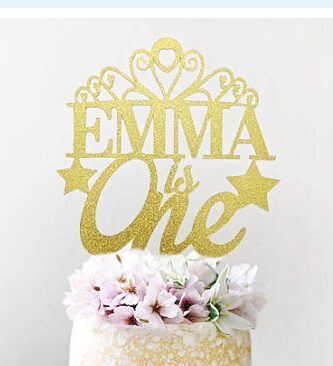 Acrylic Personalized Name And Age Tiara Princess Baby Bridal Shower Birthday Cake Toppers Tools Wedding Party Decorations In Decorating Supplies From