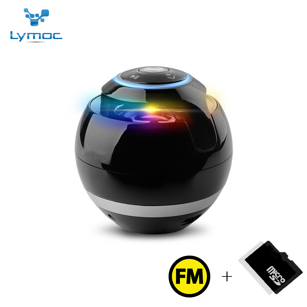 Lymoc Portable Bluetooth Speaker LED MINI Bluetooth Wireless Stereo Music Speaker Bass AUX TF FM Heavy  Sound Box Loudspeakers