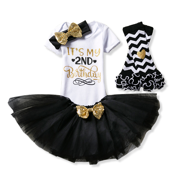Its My Little Girl 2nd Birthday Party Cake Smash Outfits 2 Year Fancy Clothing Set Gift Baby Toddler Girls Kids Baptism Clothes