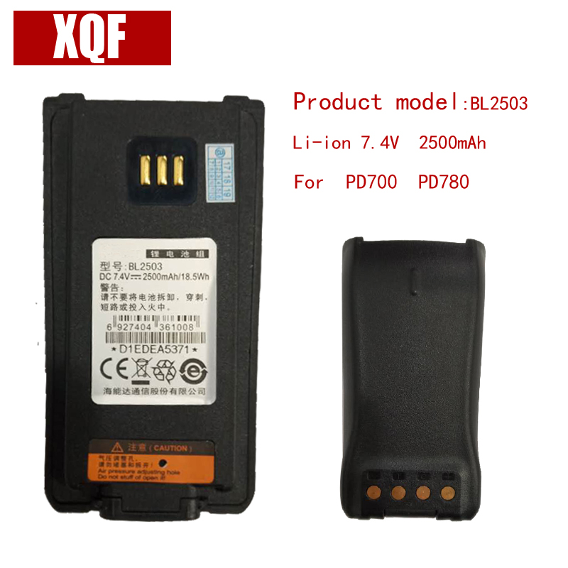 Original BL2503 Li-on 7.4V 2500mAH Battery For Hytera HYT Radio PD700 PD780 Walkie Talkie