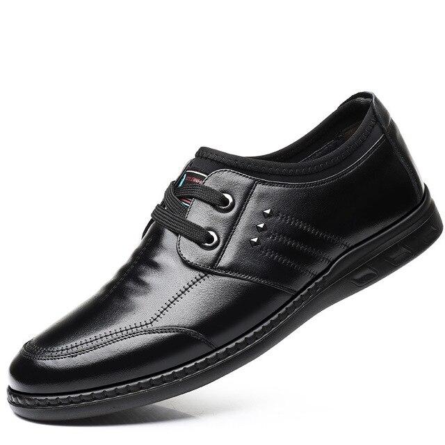 3180 New Fashion Casual Men's Cowhide Leather Shoes Designer Round Head Soft Soles Men's Single Shoes