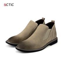 Новое Прибытие 2017 Мужчины Suede Shoes Высокое Качество Зимняя Обувь Челси Сапоги Стиль мужская Повседневная Обувь Бренда Мужчина Скольжения на