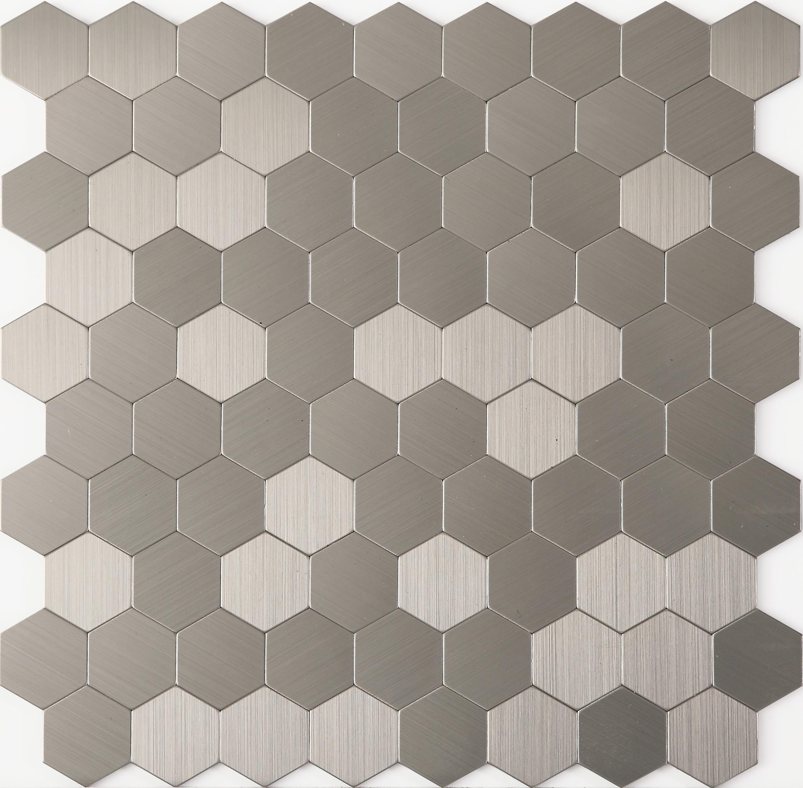 Self Adhesive Kitchen Backsplash Tiles, Hexagon Metal Mosaic Tiles, Hexagon Tiles For Wall, LSAP06