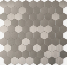 Self adhesive kitchen backsplash tiles, Hexagon metal mosaic tiles, Hexagon tiles for wall, LSAP06 aluminium plastic mirror glass mosaic wall tiles metal mosaic tiles sticker kitchen backsplash home mosaic decoration lslcb06