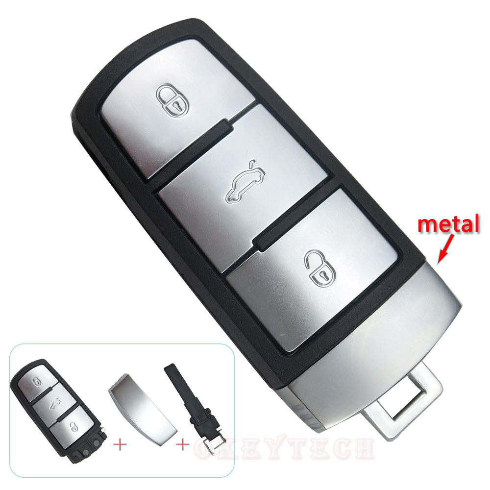 Car Remote Smart Key Complete For Vw Volkswagen 3c0959752ad Nissan Control Circuit Board 315mhz Best Qualityboard Okeytech Auto Magotan Cc Passat 3 Buttons Card Cover