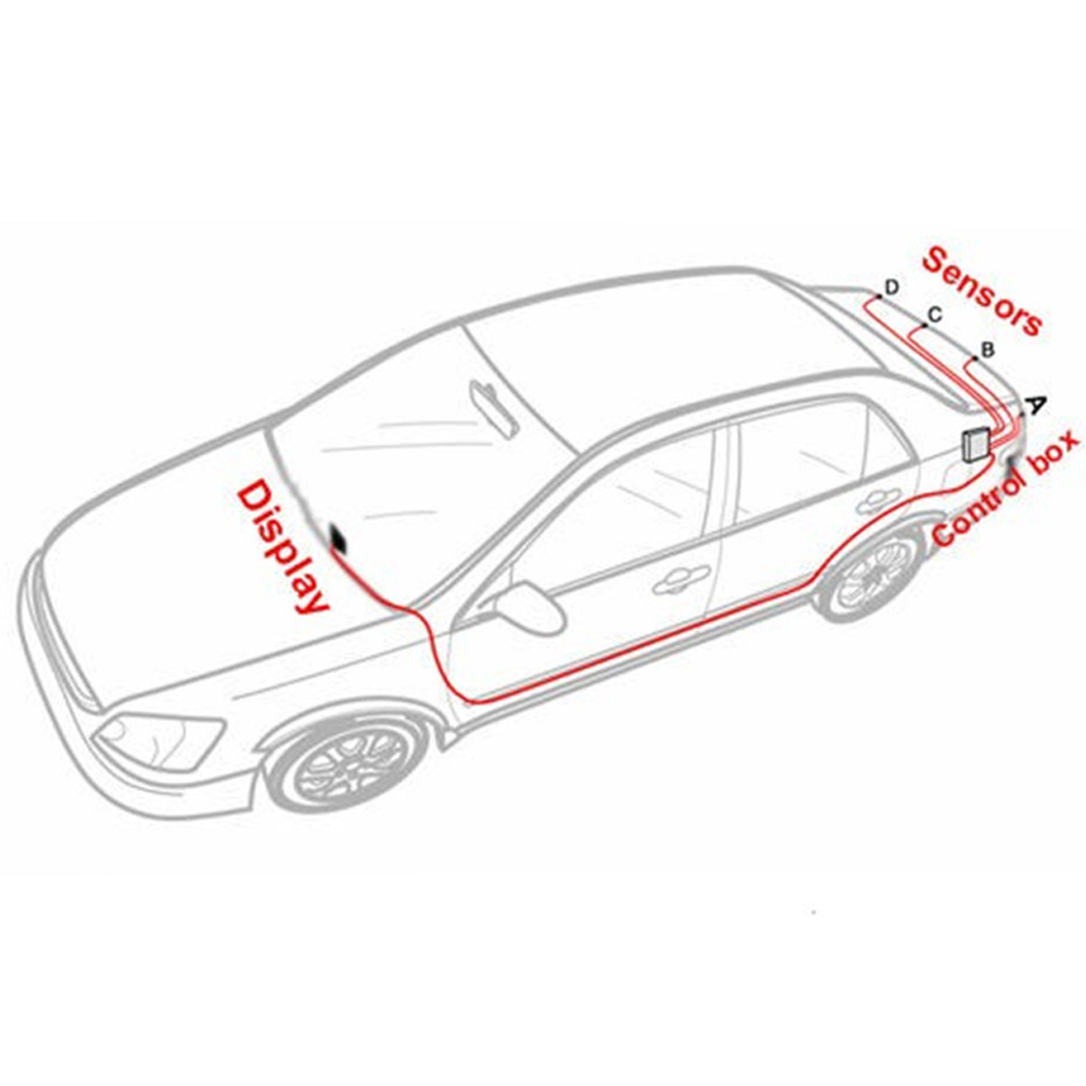 Image 5 - LCD Parking Sensors Display Monitor Rearview Car Parking Assistance Backup Radar System  4 sensors Reverse Radar Car Accessories-in Parking Sensors from Automobiles & Motorcycles