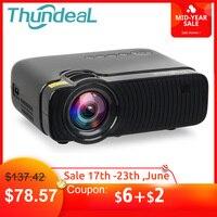 ThundeaL TD30 Max проектор 1280*720 дополнительный Android 6,0 WiFi Bluetooth 4 K мини светодиодный проектор 2400 люмен видео 3D HD проектор