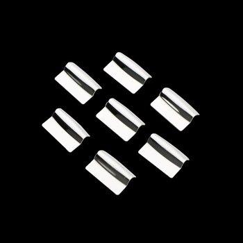 Kolor mojego życia 7 sztuk ze stali nierdzewnej przełącznik okna samochodu wykończenia okna przełącznik naklejki dla Mitsubishi Outlander ASX Pajero akcesoria
