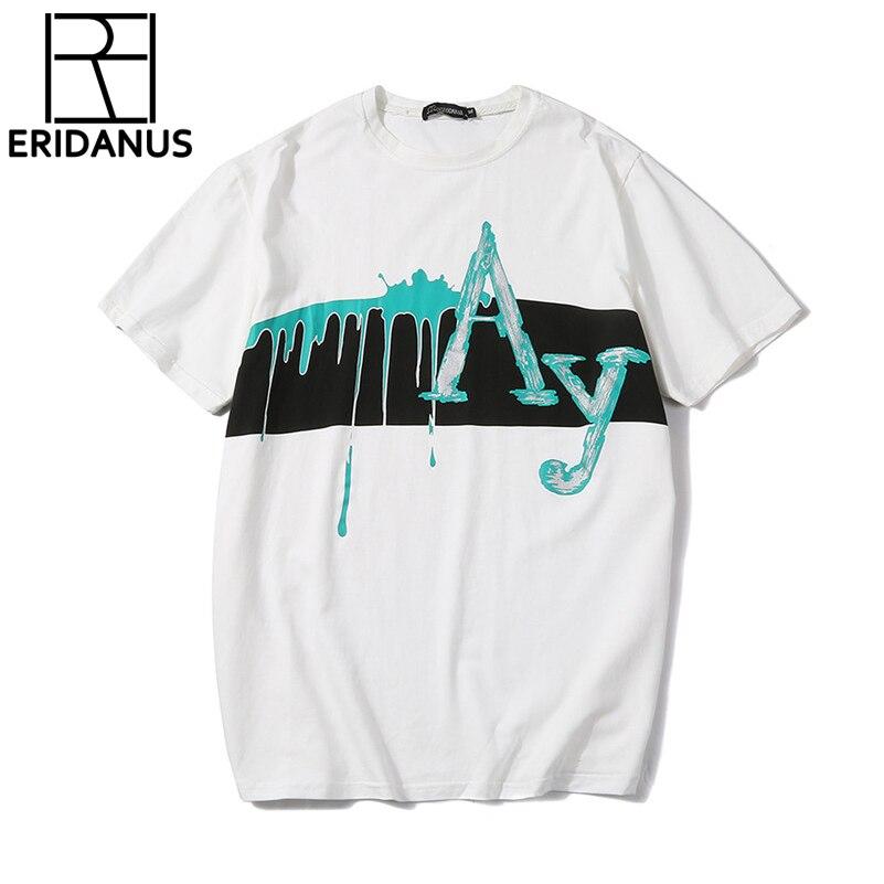 Hot Sale T-Shirts Short -Sleeves 2018 Summer Spring New High-Elastic Mens O-Neck Tee Boy Hip hop Skate Tops High Quality X771