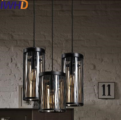 IWHD Iron HangLampen LED Pendant Lights Loft Industrial Vintage Pendant Lamp Retro Crystal Bedroom Kitchen Iluminacion Lighting iwhd iron hanglamp style loft vintage industrial lighting hanging lights kitchen dining bedroom retro lamp led pendant lights