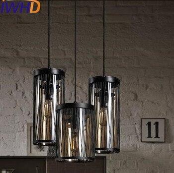 Lámpara colgante de hierro de estilo antiguo Industrial, lámpara colgante de hierro,...