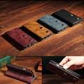 Carteira de couro da aleta magnética elegante e útil case capa slot para cartão suporte para iphone 6 6 s 7 plus