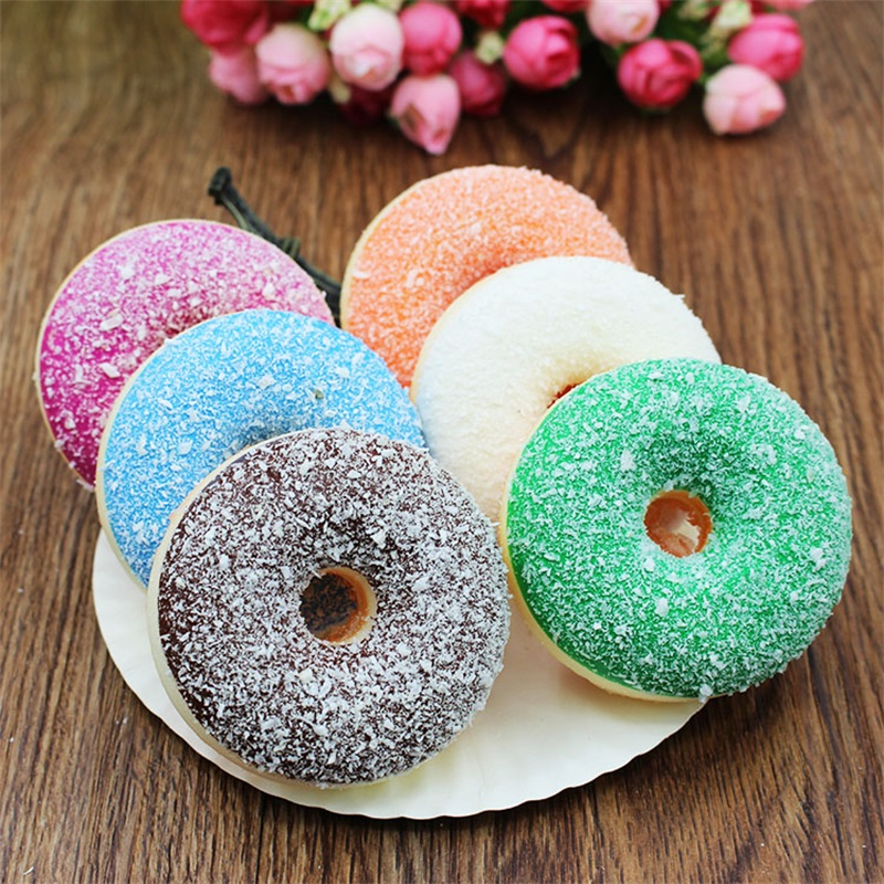 6pc Artificial Fake Bread Donuts Doughnuts Simulation Model Ornaments Cake Decoration Toys Children Pretend Play Kitchen Toys