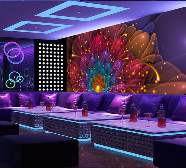 Photo Wallpaper Murals Colorful Flower Nightclub Clubhouse Bar Ktv Ballroom Background Wall Decor Paper Custom Any Size