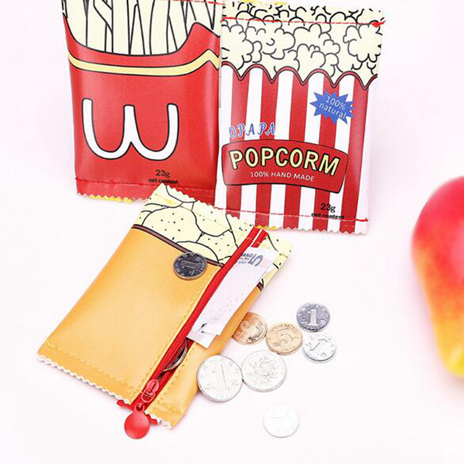 Women Cute Creative Snacks Coin Purse PU Leather Purse Bag Zipper Change Purse Wallet Holders Money Bag For Kids Girl Gift pacgoth creative pvc waterproof cute carton candy color purse dessert donuts summer sweet hearts zipper coin purses money bag