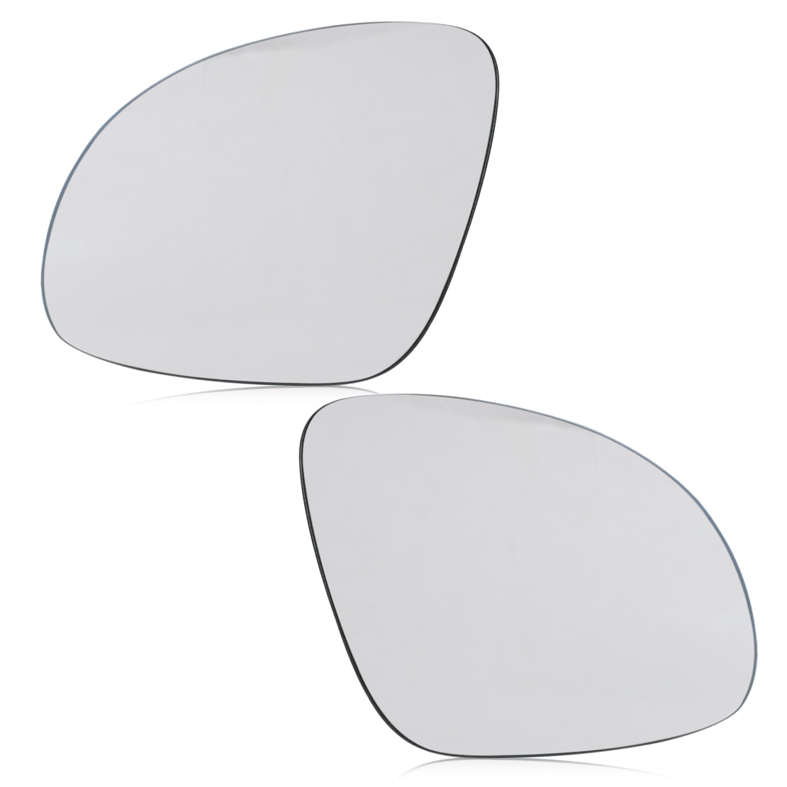 CITALL Car Right + Left Side Wing Mirror Rearview Glass Heat W/Holder for Volkswagen VW Golf GTI Jetta MK5 EOS Rabbit Passat B6