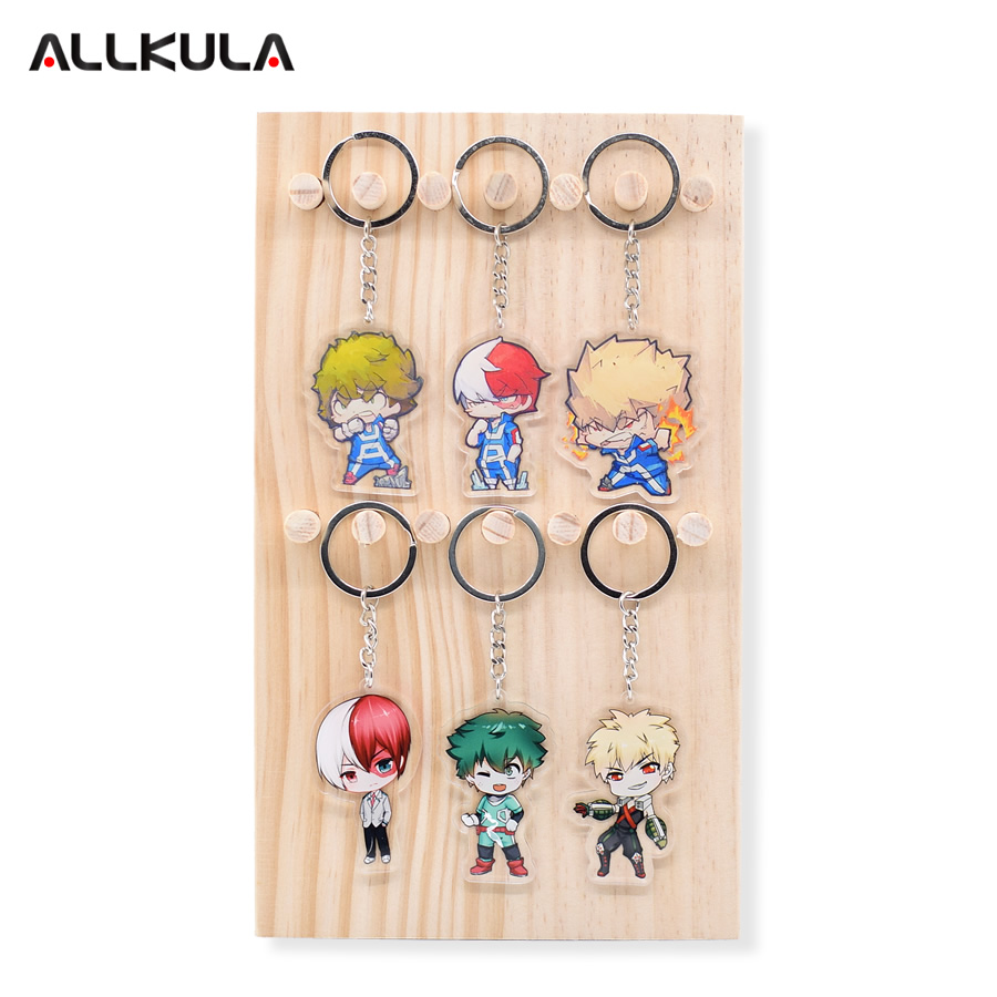6 pcs    ensemble mon h u00e9ros academia action figure keychain