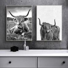 """Highland """"корова"""" настенное искусство вертикальные"""