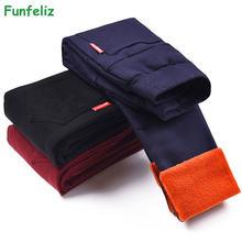 Funfeliz/брюки для маленьких девочек; Детские теплые штаны;