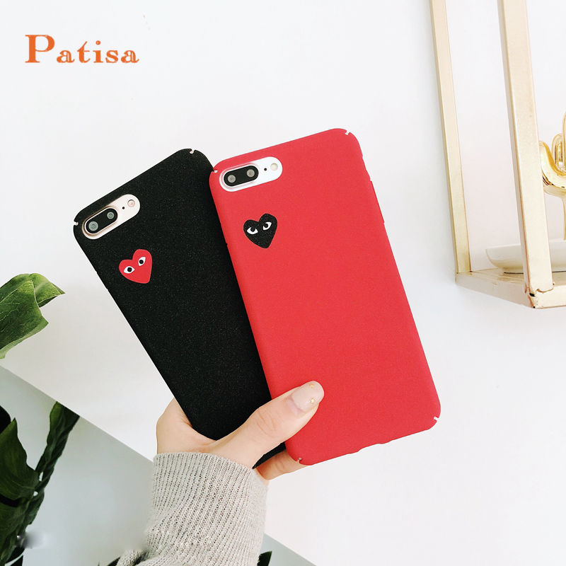 Hot New Lovers CDG Play Comme des Garcons Non-slip Matte Supr cover case for iphone 6 6S plus 7 7plus 8 8plus X phone cases capa