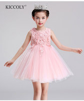 Top Quality Brand Girl Wedding Dress Flower Girl Dress Sequin Princess Party Dress Children Bridesmaid Clothes