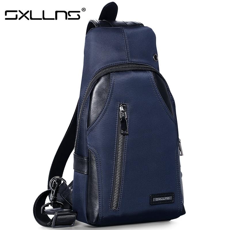 ФОТО 2017 Sxllns Men Messenger Bag Oxford Beach Bag Brand Men's Shoulder Bag Travel Riding Multifunctional Chest Pack Crossbody Bag