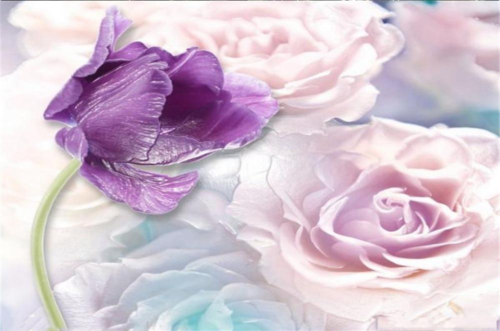 Rideau Promotion fleurs violettes Rose Rose 3d fleur rideaux impression numérique décoration intérieure pratique occultant Curtai - 5