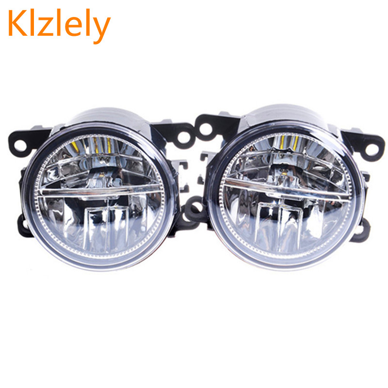 For Renault MEGANE 2/3/CC Fluence DUSTER Koleos SANDERO STEPWAY LOGAN Kangoo 1998-2015 Car-styling LED fog lamps 10W lights 1set сетка на решетку радиатора renault sandero