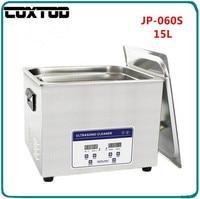 Coxtod jp 060s ультразвуковой очистки ювелирных изделий 15l корзина lavatrice ultrasuoni ultrasoon reiniger Цифровой подогревом Ультразвуковой Для ванной
