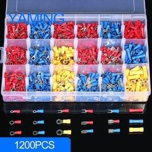 Image 2 - Ensemble de bornes à sertir, Kit de bornes mâle/femelle, 1200 pièces avec boîte, connecteurs de câblage électrique isolés