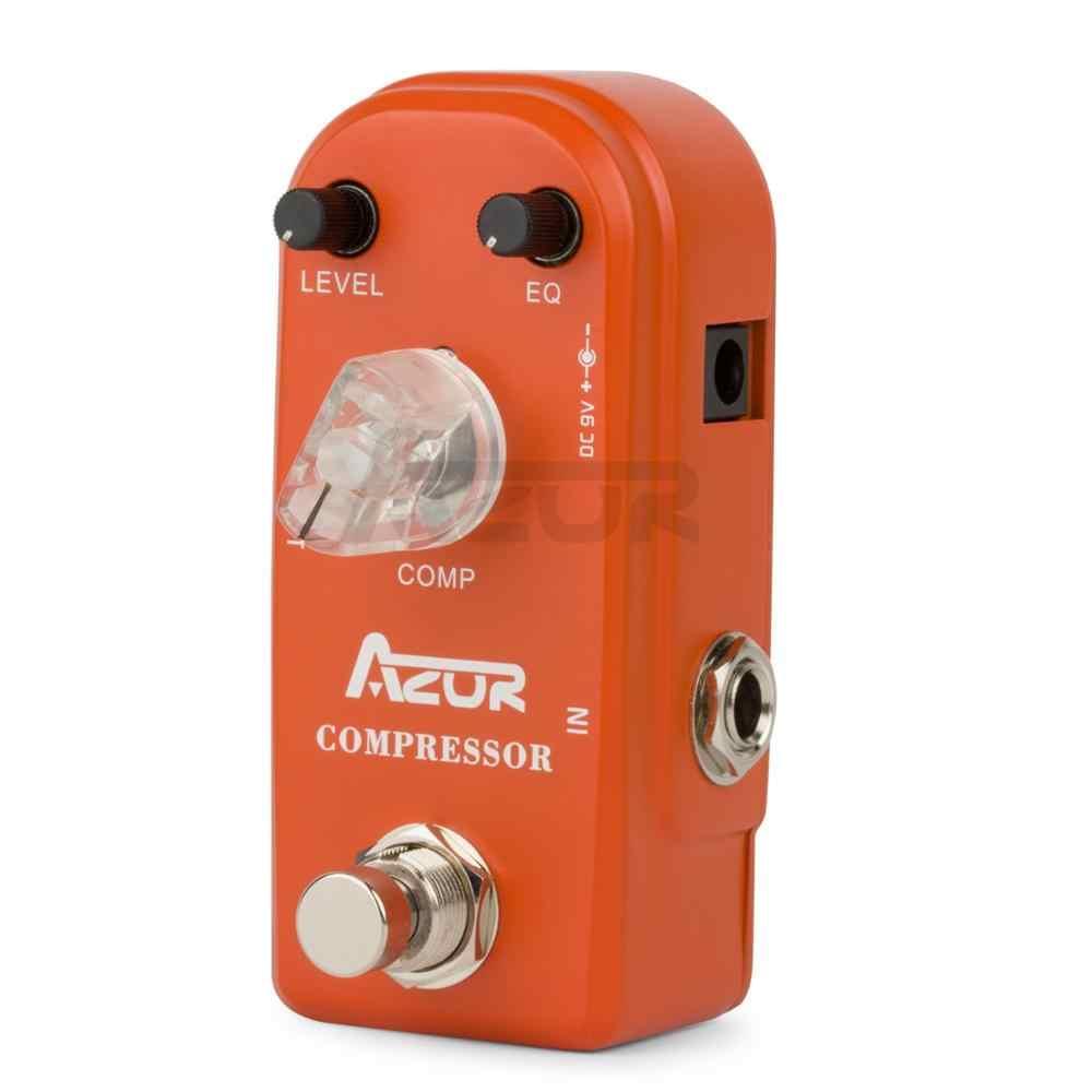 AZOR AP-305 ضاغط الغيتار تأثير دواسة صغيرة سبائك الألومنيوم 9 فولت Azor صغيرة دواسة ضاغط الغيتار دواسة اكسسوارات جديد