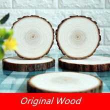 12-15CM Natural Unfinished Round Wood Slices For Kids DIY Crafts Party Wedding&Engagement Home Decoration Painting Gifts Handmad