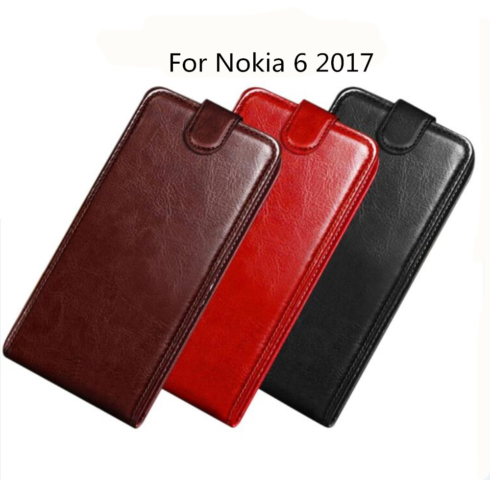 For <font><b>Nokia</b></font> <font><b>6</b></font> Case 5.5 inch Wallet PU Leather Back Cover Phone Case For <font><b>Nokia</b></font> <font><b>6</b></font> <font><b>2017</b></font> Case Flip Silicone Protective Bag Skin image