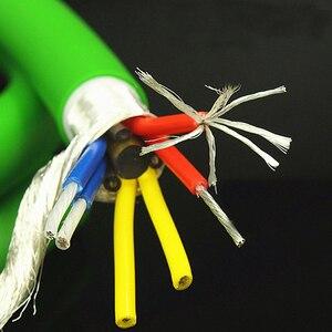 Image 5 - Hi End xangsan 8N OCC gümüş kaplama 6 çekirdek Hifi ses amplifikatörü hoparlör toplu güç kablosu