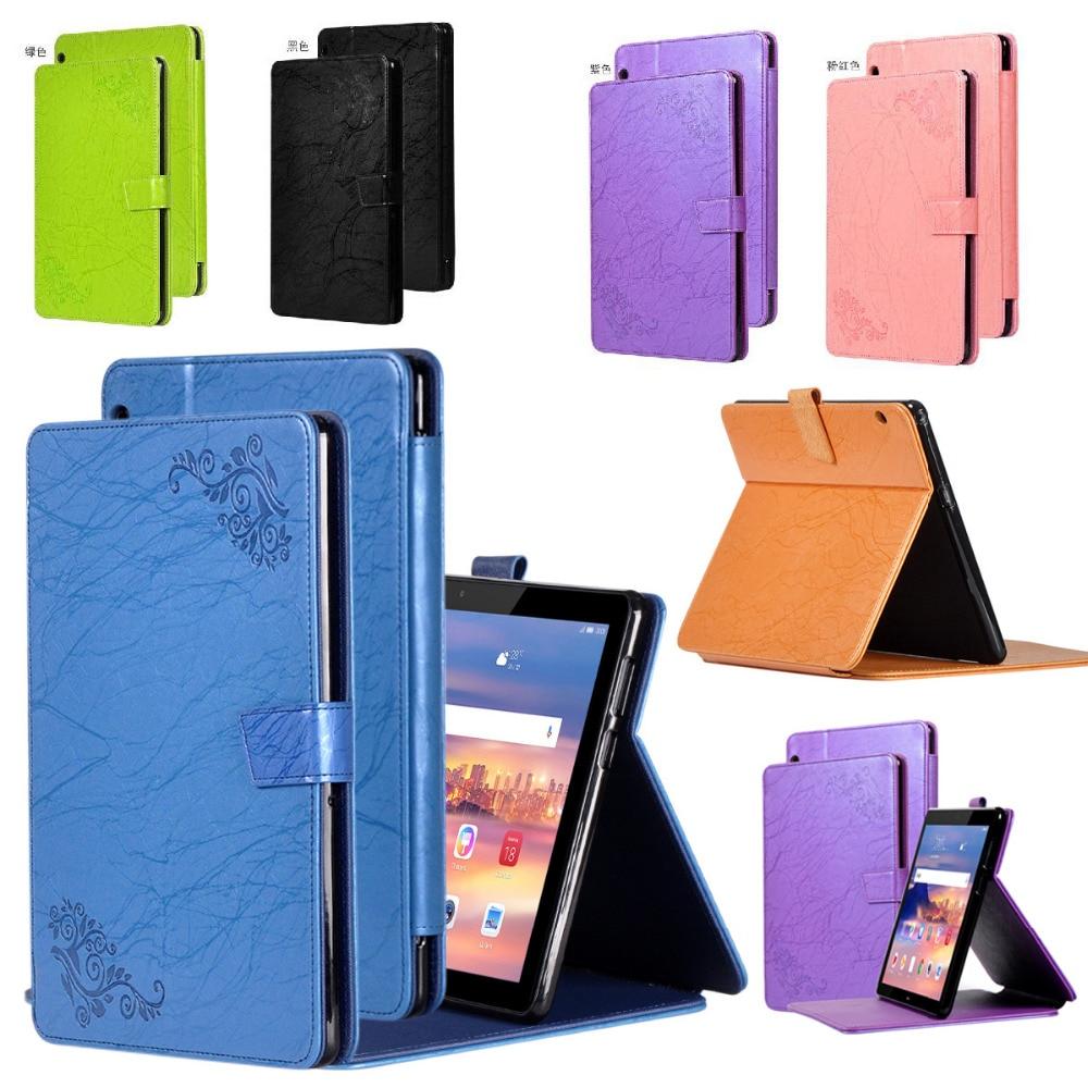 Slim Print Flip Stand Leather Skin Coque Funda Case Magnet Cover For Huawei Mediapad T5 10 AGS2-W09/L09/L03/W19 +Film +Pen