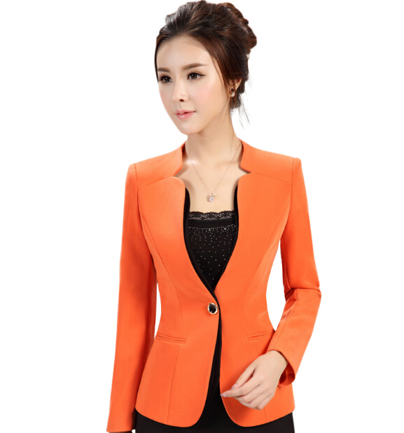 2016 autumn winter women's long-sleeve blazer plus size OL office formal female suit jacket work wear slim Patchwork outerwear