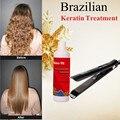 Brasileña de Uva de formaldehído libre tratamiento de queratina alisar el cabello producto + suavizar y alisar el cabello de hierro plano del pelo