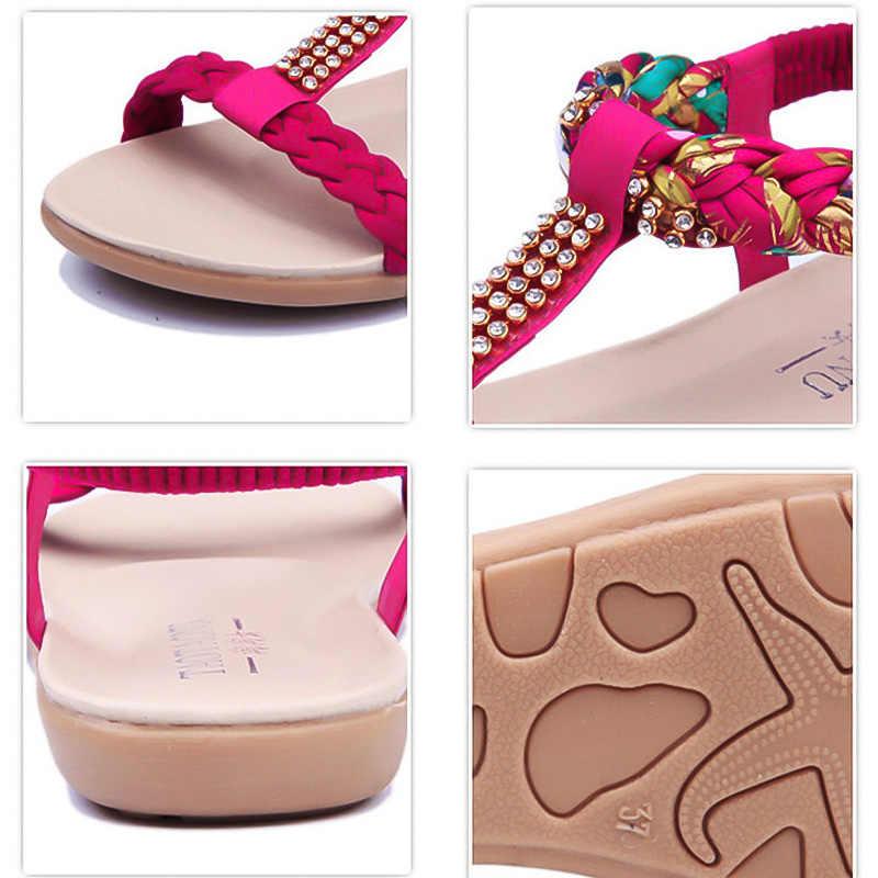 Phụ nữ Dép Mùa Hè Thời Trang Phụ Nữ Giày Bãi Biển Dép Phụ Nữ Thoải Mái Phụ Nữ Mùa Hè Giày Căn Hộ Nữ Sandalias Mujer