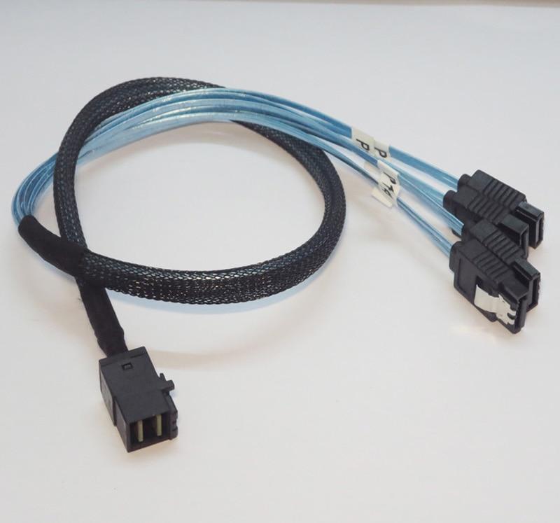 Amphenol Mini SAS SFF-8087 36 p to 4 sata 7 p HDD Hard Drive cable 75CM