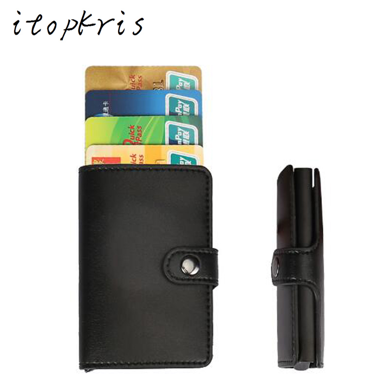 Online Shop Itopkris Aluminum Women Credit Card Holder Travel ...