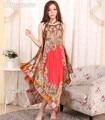 Nova marca Plus Size Feminina Alcinhas Rayon Cetim Nightdress Nightgowns Mulheres Verão Impressão Sexy Sleepshirt Robe Vestido NG012