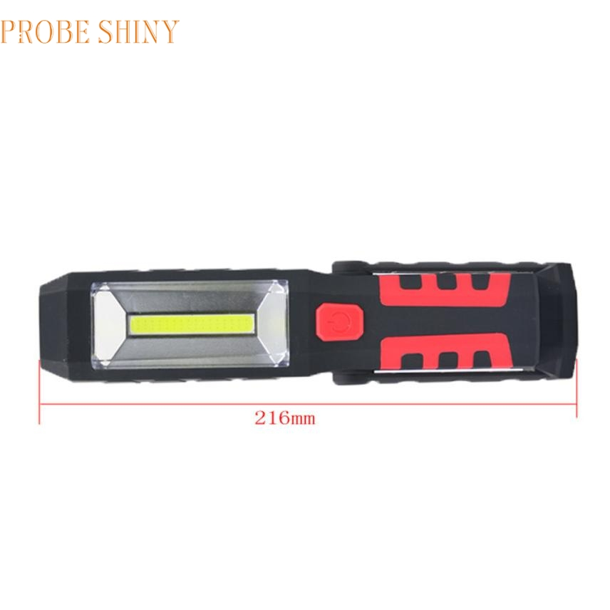 JA 6 Shining Hot Selling Fast Shipping Rechargeable Hand Held LED Cordless COB Work Light Flashlight Combination With Magnet Ha