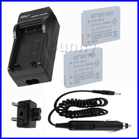 Battery 2 Pack Charger For Canon PowerShot TX1 SD30 SD40 SD200 SD300 SD1100IS SD1400IS SD940IS SD960IS