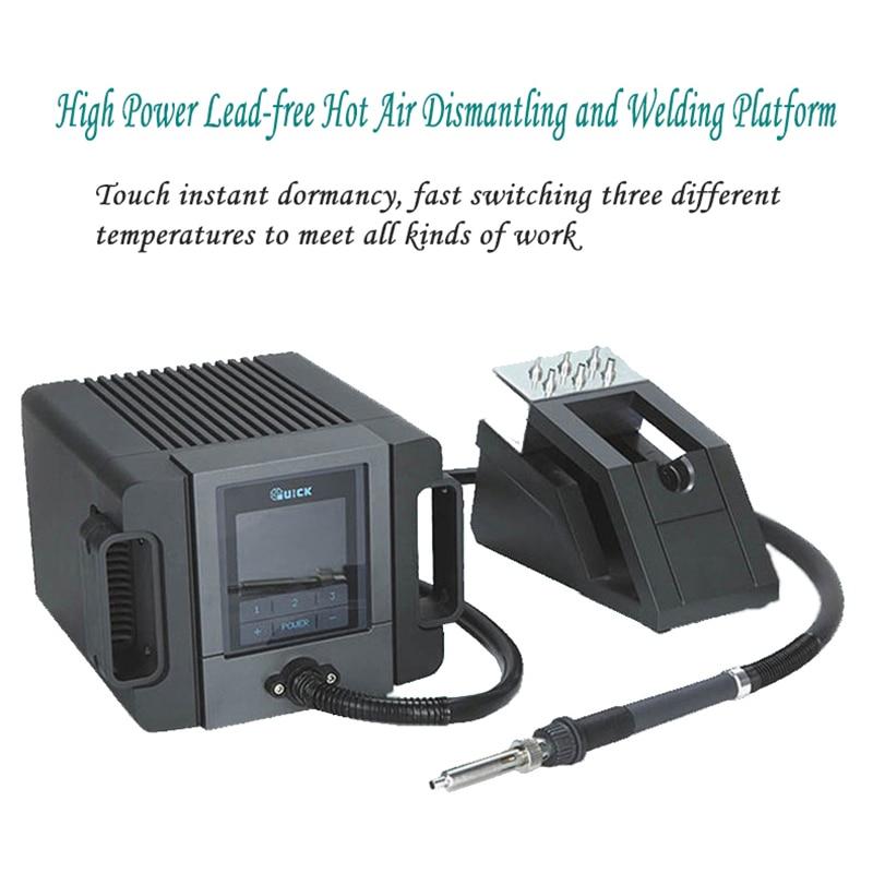 Free TR1100 Lead Welding Temperature Constant Intelligent Platform  QUICK Touch Dormancy Air Hot 200W Gun Of