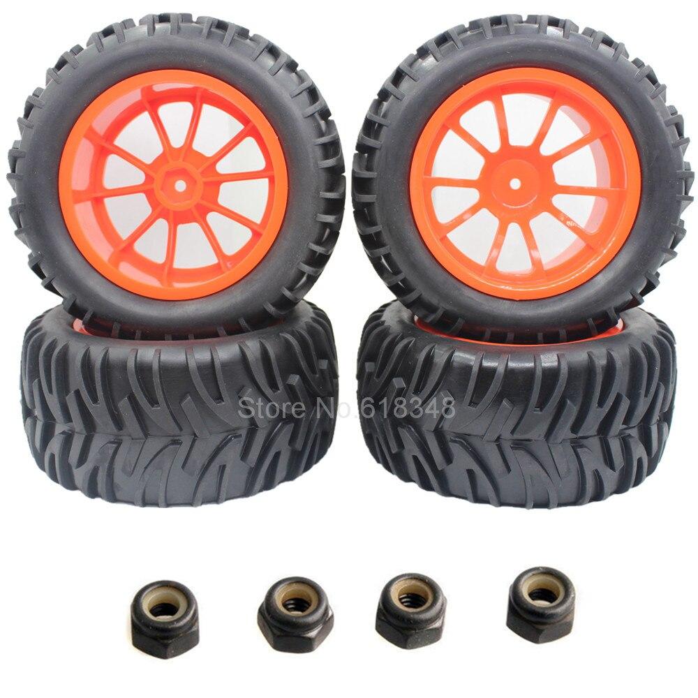 4 шт. 3.2 дюйм(ов) RC Шины грузовых автомобилей и обод колеса 12 мм hex резиновые для 1:10 Off Road Monster HSP HPI REDCAT Traxxas превышать