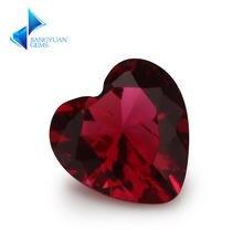 Размер 3x3 ~ 12x12 мм розово Красная форма сердца Свободно сидящий