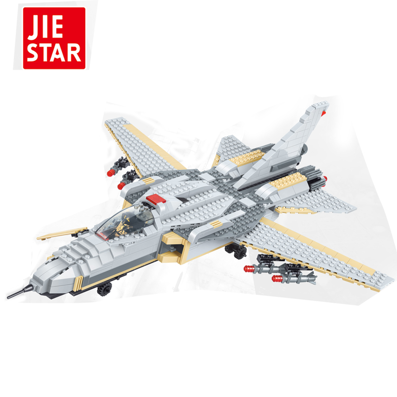 JIESTAR 756pcs Armies Assemble DIY Toy Early Educational Brinquedos Large fighter Building Blocks for Kids compatible with toys diy piececool 3d metal model toy dinosaur rock p062s orignal design puzzle 3d metal educational models brinquedos kids toys