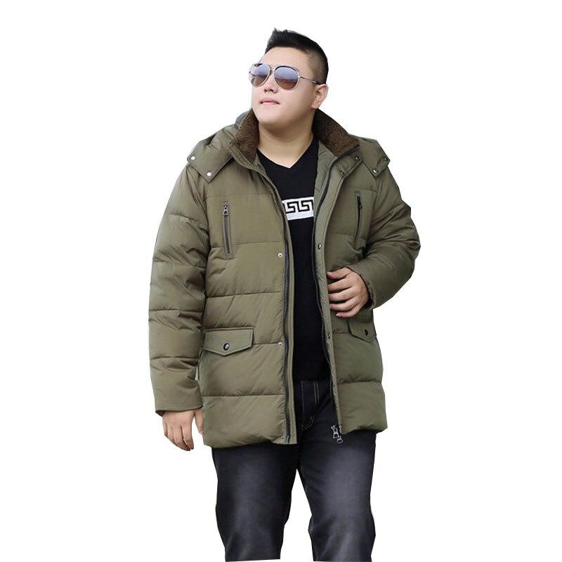 2017 Nouveau Hiver Parc Coton veste Hommes de Manteau Chaud De Mode Casual Manteau de veste Épaisse Hommes Augmenter la taille XL-10XL pour 170 kg hommes