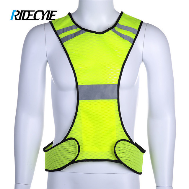 RIDECYLE Bike Cycling Vest Reflective Cycling Bike Bicycle Vest Sleeveless  Night Running Security Riding Outdoor Protection e1c3aec8f