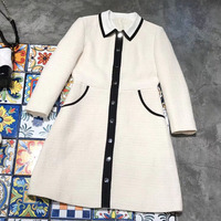 white dresses for women 2018 with long sleeve fashion jacket dress for woman square collar dress spring